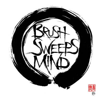 Brush Sweeps Mind Poster