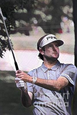 Pro Golfer Bubba Watson Poster