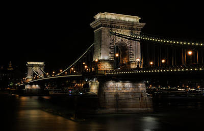 Poster featuring the photograph Budapest At Night. by Jaroslaw Blaminsky