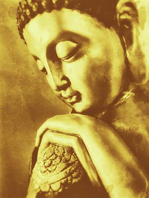 Buddha Golden Poster