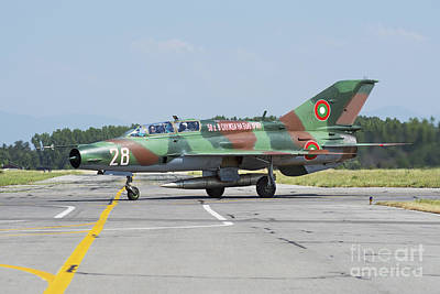 Bulgarian Air Force Mig-21um Mongol Poster