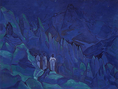 Burning Of Darkness Poster by Nicholas Roerich