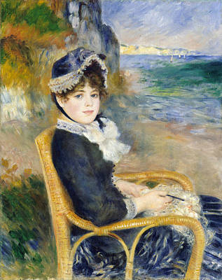 By The Seashore Poster by Auguste Renoir