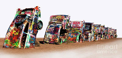 Cadillac Ranch 1 Poster by Bob Christopher