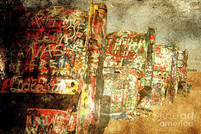 Cadillac Ranch On Route 66 Poster by Susanne Van Hulst