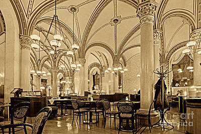 Cafe Central Vienna Poster by Christian Hallweger