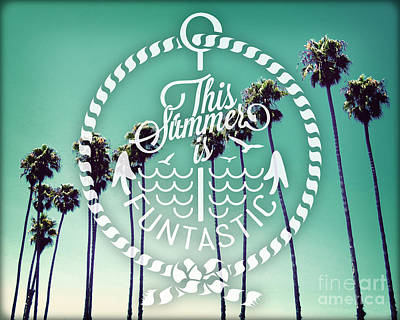 California Palms I Poster by Chris Andruskiewicz