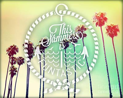 California Palms IIi Poster by Chris Andruskiewicz