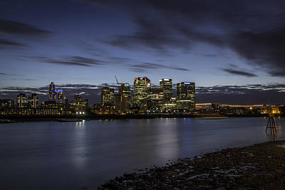 Poster featuring the photograph Canary Wharf by Ryan Photography