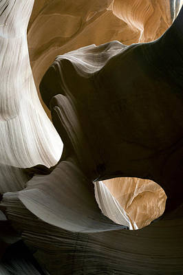 Canyon Sandstone Abstract Poster by Mike Irwin