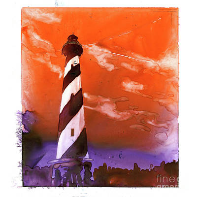 Poster featuring the painting Cape Hatteras Lighthouse by Ryan Fox