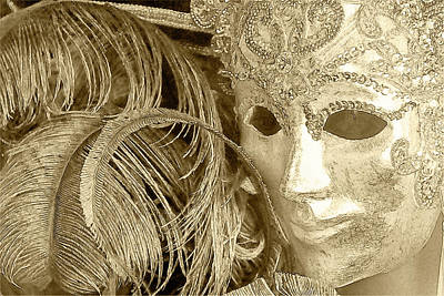 Poster featuring the photograph Carnival Mask by John Hix