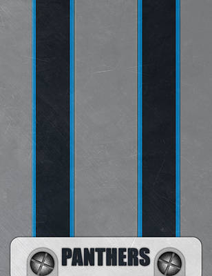 Carolina Panthers Helmet Art Poster