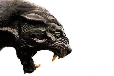 Carolina Panthers Statue Poster by Patrick Schneider