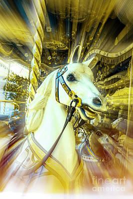 Carousel Horse Poster by Bernard Jaubert