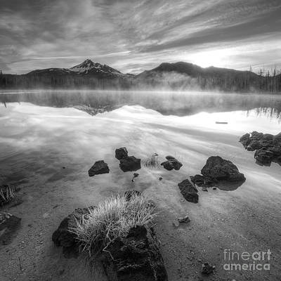 Cascades In Black And White Poster by Twenty Two North Photography