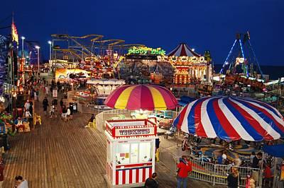 Casino Pier, Seaside Heights Poster by Bob Cuthbert