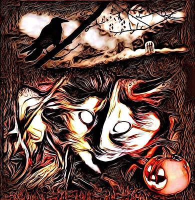 Cat Abstract By Artful Oasis 1 Poster