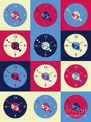 Cds Music Clock Poster