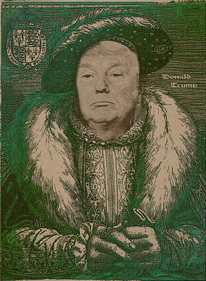 Celebrity Etchings - Donald Trump Poster by Serge Averbukh
