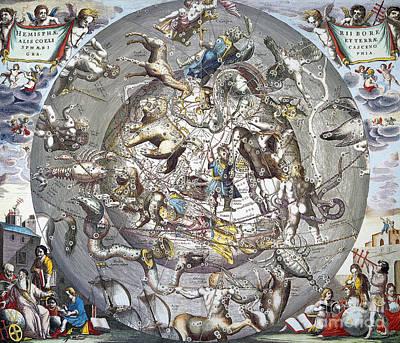 Celestial Planisphere, 1660 Poster by Granger