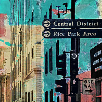Poster featuring the photograph Central District by Susan Stone
