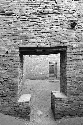 Chaco Canyon Doorways 2 Poster by Carl Amoth