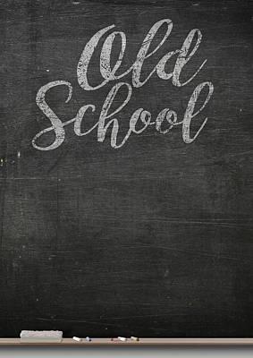 Chalk Board Poster by Allan Swart