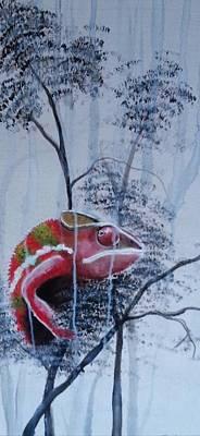 Chameleon In The Rain Poster