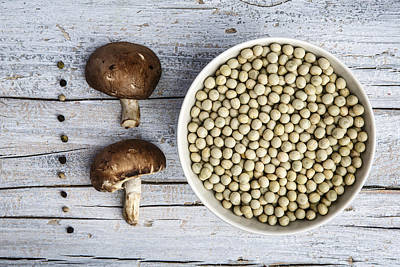 Champignons, Peas And Pepper Poster