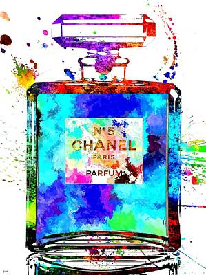 Chanel No. 5 Grunge Poster by Daniel Janda