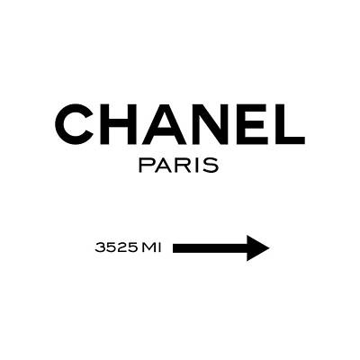 Chanel Paris Poster by Tres Chic