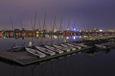 Charles River Boats Clear Water Reflection Poster by Toby McGuire