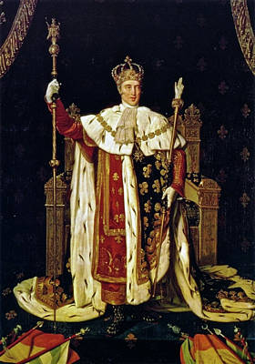 Charles X In His Coronation Robes Poster by Jean-Auguste-Dominique Ingres