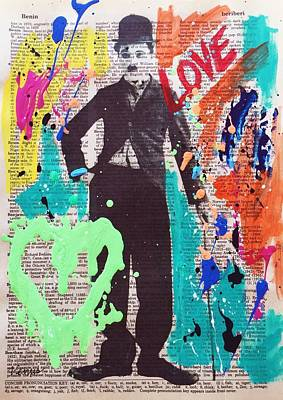 Charlie Chaplin Poster by Venus
