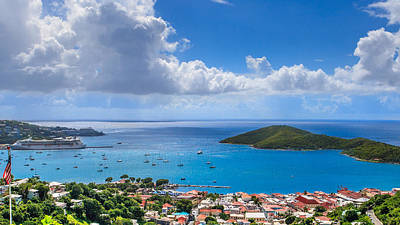 Charlotte Amalie St. Thomas Poster by Keith Allen