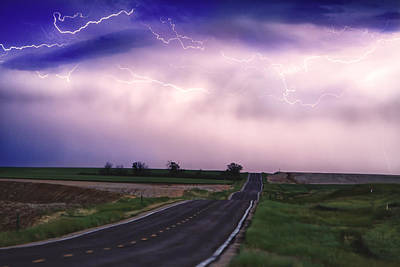 Chasing The Storm - County Rd 95 And Highway 52 - Colorado Poster