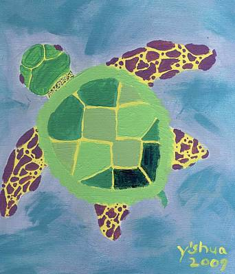 Chiaras Turtle Poster by Yshua The Painter
