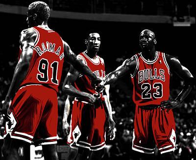 Chicago Bulls Big 3 Poster