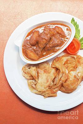 Poster featuring the photograph Chicken Massaman Curry by Atiketta Sangasaeng