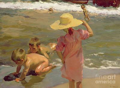 Children On The Seashore Poster