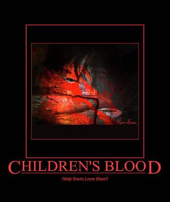 Children's Blood Poster by Karo Evans