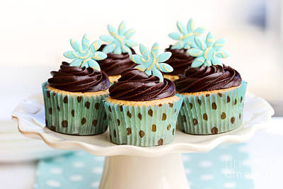 Chocolate Cupcakes Poster by Ruth Black