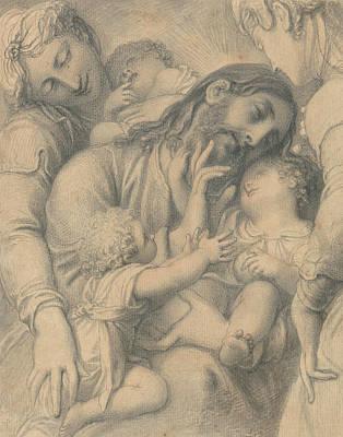 Christ Blessing Little Children Poster