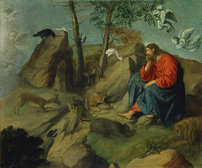 Christ In The Wilderness Poster by Moretto da Brescia