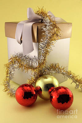 Christmas Gifts And Baubles Poster