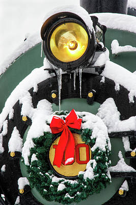 Christmas Train At Pacific Junction Poster