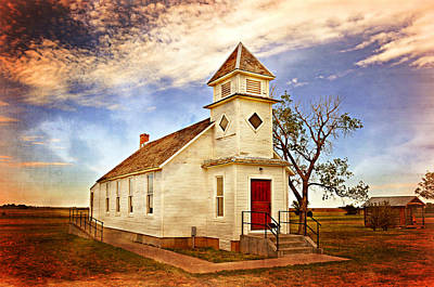 Church On The Plains Poster by Marty Koch