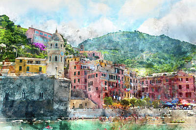 Cinque Terre Italy Poster by Brandon Bourdages