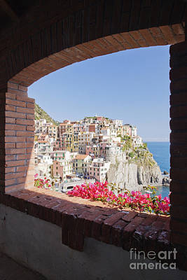 Cinque Terre Town Of Manarola Poster by Jeremy Woodhouse